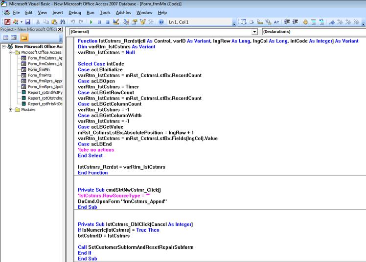 MS Access Database Developer Houston TX